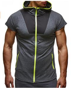 Мужские спортивные повседневные футболки с застежкой-молнией и конфетами
