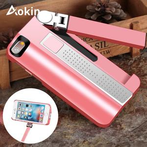Caso Aokin Selfie Stick per Iphone7 7plus costruito nel ricaricabile Bluetooth Selfie Stick estensibile per Iphone 7 copertura del telefono Capa