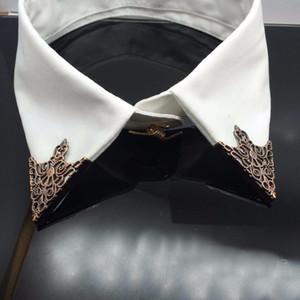Mode legierung brosche hohl muster kragen winkel Palace retro Triangle shirts kragen pins frauen männer Schmuck