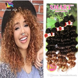 무료 배송 Freetress 곱슬 합성 머리 Weft 확장 6Bundles 팩 Ombre 버그 흑인 여성 영국에 대한 어두운 부르고뉴 머리카락