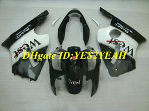 Kit de carénage de moulage par injection pour KAWASAKI Ninja ZX12R 02 03 04 05 ZX 12R 2002 2005 Ensemble carénage noir blanc + cadeaux KX08