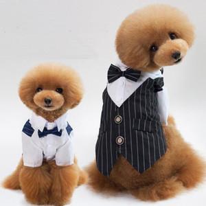 작은 개를위한 웨딩 개 옷 코트 자켓 한 벌 재미 있은 개 의상 Yorkies Chihuahua Clothes for Christmas