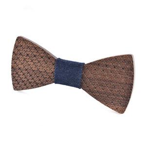 Tendência da moda Laser Superfície Carving Criativo Handmade Bow Tie De Madeira De Comércio Exterior De Madeira Gentleman Dinner Party Bow Tie