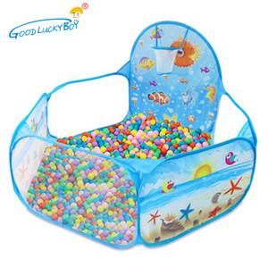 Enfants en plein air boule teepee tentes océan série de bande dessinée jeu piscine portable pliable sport playhouse jouets avec panier bateau gratuit