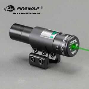 2018 New YH211 Power Mini Mira Green Laser Sight Pointer con 11mm 20mm a coda di rondine per binario da caccia