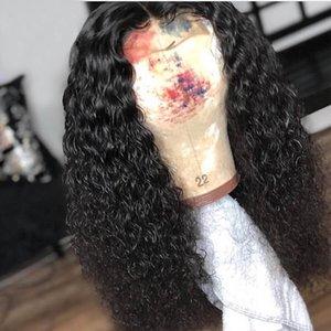 Brasileira Lace Front perucas Encaracolado Cheia Lacewigs Pré Arrancadas Linha fina Natural para a mulher qtfn cabelo