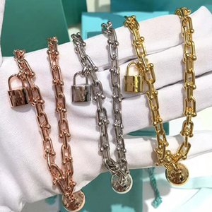 U shaped chain band lock of T letter of European and American titanium Steel Ball Bracelet top quality never fade
