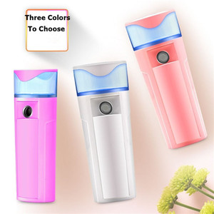 Nano Névoa Pulverizador Set Corpo Nebulizador Steamer Cuidados Com a Pele Elétrica Hidratante Recarregável USB Power Bank Pulverizador 2 em 1 Ferramenta de Viagem