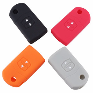 2 taste neue silikon abdeckung autoschlüssel abdeckung case halter für mazda 3 2 6 cx7 cx9