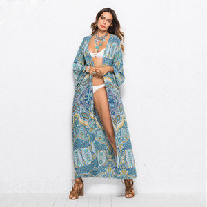 Blouses for Women Knits Tees Tops for Women Summer Rainbow Chiffon Scarf Women Beach Silk Scarf Sunscreen Flower Print Capes