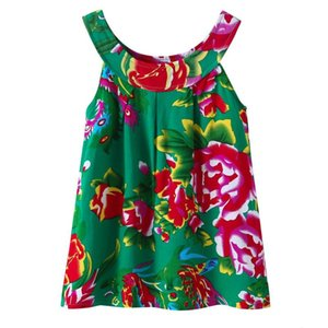 Moda Yaz Bebek Kız Elbise Pamuk Kolsuz Çiçek Elbise Kızlar için Kore Rahat Askıları Elbise Çocuk