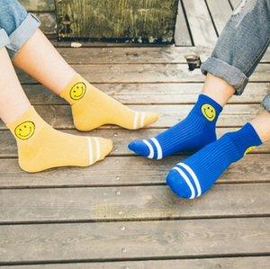 Nuovo arrivo Smile Face Tube Socks Stripes Harajuku Student School Socks Girl Korean Socks