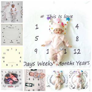 16 styles nouveau-né accessoires de photographie couverture lettres numéros chiffres couvertures bébé garçons filles infantile accessoires de photo accessoires GGA325 15pcs