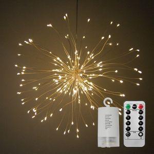 DIY Складной Букет Форма 150leds LED гирлянды Firework Батарейки Декоративной гирлянда для Garland Patio свадеб