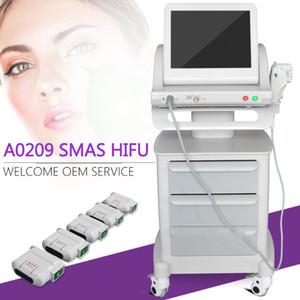 Máquina portátil del ultrasonido del cuidado de la piel del lifting facial de Hifu de la intensidad alta con 3 y 5 cartuchos de Hifu para el uso del hogar y del salón