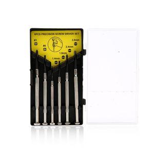 Kit de tournevis de précision 6 en 1 pour tous travaux de précision, mobiles, montres, appareils photo et travaux manuels