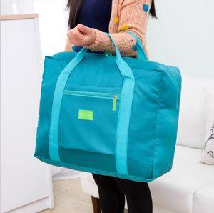 Nylon Waterproof saco de viagem grande capacidade de armazenamento Bag - Folding bagagem Travel Packing Cube organizador de roupas (5 cores)
