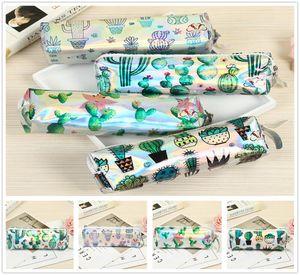 Yeni Güzel Yeşil Kaktüs Desen Kalem Çantaları Ev Okul Malzemeleri Çocuklar Çocuk Pretty Hediye Ücretsiz Kargo