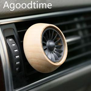 Auto Profumo Clip Deodorante Presa d'aria AC Vent Fragrance Clips in legno massello Creativo Climatizzatore Auto Engine Car-Styling