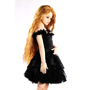 Accessori per bambole 1/4 BJD SD Dolls Dress Nero Off Spalla Party Gown Dress Regalo di compleanno per Girl Kid Toy Doll Clothes Collect