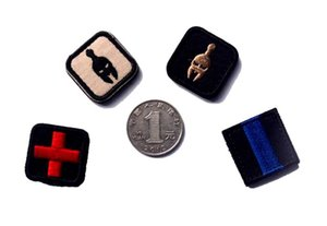 18VP-6 Cruz rescate militar Sparta parches bordados de Moral tácticos Parches insignias gancho bucle divisa del brazal del pequeño tamaño