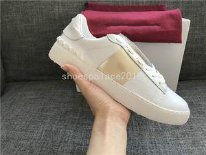 2019 Banda Senhora Conforto Casual Sapato Esporte Sapatilha Dos Homens Lazer Sapatos de Couro Designer de Formadores Das Mulheres Formadores de Festa Lowtop Sneakers