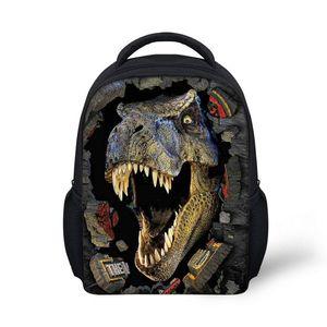 FORUDESIGNS 3D Dinosaurier Druck Mini Schultaschen Für Teenager Jungen, Mode Kindergarten Schultasche Set Kleinkind Mochila Infantil