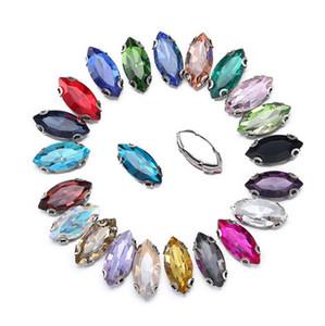 Approx 50pcs / lot 4-17mm annähen flatback strass zufällige mischfarben vier löcher perlen steine für kleidung