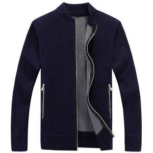 Casual Sweater Men Pullover Clothes Thicken Cardigan Ropa de hombre Velvet Sweaters Hombre Plus Size 3XL Nuevo