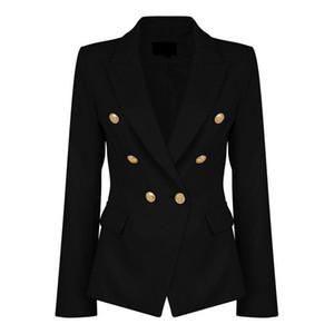 Bayanlar Siyah Blazers Feminino Resmi Ceket Kadınlar Kısa Ince Beyaz Ceketler Kadın Uzun Kollu Iş Takım Elbise WS2509C