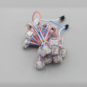 5V 20mm WS2811 adressable привело модуль света, цифровой полный цвет 5050 SMD RGB LED Pixel Light, 50modules / строка, DC5V вход, водонепроницаемый IP68
