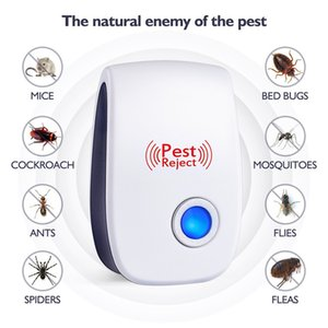 Mosquito Killer Pest Rifiuta Elettronica Ultrasuoni Repeller Repeller Reject Rat Mouse Repellente Anti Rodent Bug Reject House Office Restaurent
