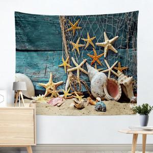 Estrela do mar Conchas Pérola Tema do Verão Tapeçaria Tapeçaria Mandala Toalha De Praia Boêmio Hippie Indiano Wall Art Tapete de Parede de Alta Qualidade