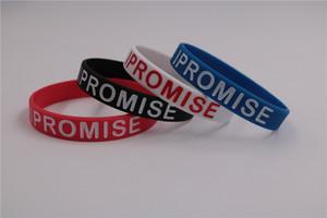 4 pçs / lote eu prometo silicone pulseira de borracha unisex esportes leBron James pulseira de basquete roupa