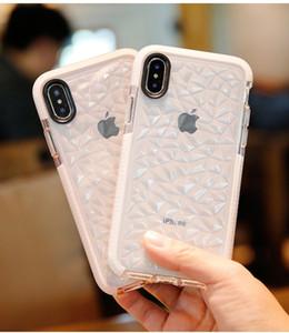 Antichoc Transparent Diamond Texture Case Case pour iPhone X 10 7 8 6 6 s Plus Silicone Cristal Slim Couverture 3D Fleur accessoires