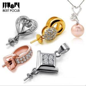 Sem 100% Configurações Pearl S925 Sliver DIY Configurações 12 estilos Pingente de jóias colar de pérola colar de corrente de natal trnni