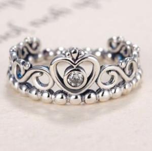 anelli gioielli in argento sterling S925 zircone anelli cuple corona princessheart anelli moda calda libera di trasporto
