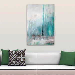 Di alta qualità dipinta a mano HD stampa moderna astratta pop art pittura a olio turchese su tela wall art home decor multi size l68