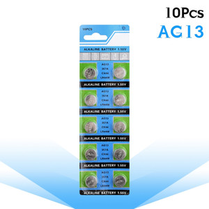 Drop shipping 10 adet AG13 LR44 LR1154 SR44 A76 357A 303 357 Pil Sikke Hücre 1.55 V Alkalin Için Saatler Oyuncaklar