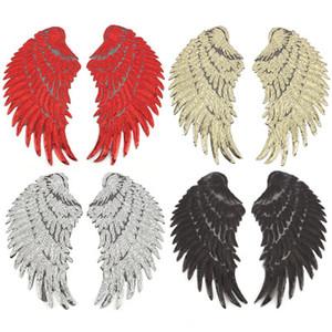 Altın payetli tüyler ile 4 paris İşlemeli kumaş High-end giyim çanta aksesuarları ile Yapışkan yama