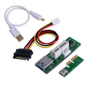 Mini prolunga PCI-E X1 da alimentare Scheda di espansione estesa PCIE 1X ad angolo retto di 90 gradi