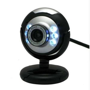 كاميرا ويب USB عالية الوضوح 12.0 ميجابكسل 6 LED Night Light Web Camera Buit-in Mic Clip Cam للكمبيوتر المكتبي المحمول الكمبيوتر المحمول