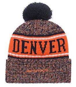 Denver Beanie Sideline Tempo Frio TD Knit Hat Grafite Oficial Reversa toda a equipe inverno Quente De Malha Gorro De Lã Gorro Crânio