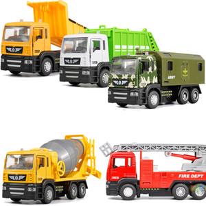 Diecast mini liga veículo de construção de engenharia despejar carro-dump caminhão modelo de brinquedo clássico mini presente para o menino menina