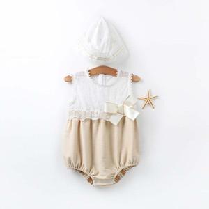 От 3 до 24 месяцев девочки летние кружева комбинезоны, дети без рукавов одежда, Детская одежда, дети бутик хлопок одежда, розничная торговля, R1AA610DS86