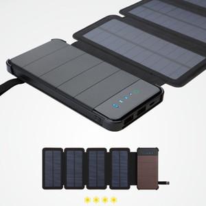 Sunpower 8W Plegado de energía solar Batería 20000mah Cargador Banco de energía solar Caso de cargador solar extraíble para productos electrónicos