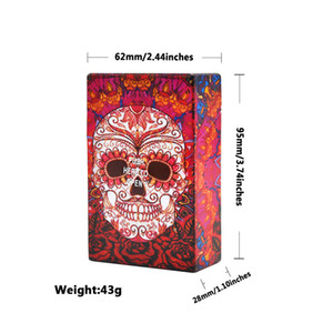 Multi-selection of personal6 Type Skull Pattern Plastic Cigarette Case Size 95mm*60mm Portable Cigarette protective caseTobacco Storage Case