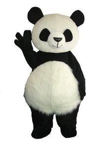 2018 Haute qualité chaude Version Chinois Géant Panda Mascot Costume De Noël Costume De Mascotte Livraison Gratuite