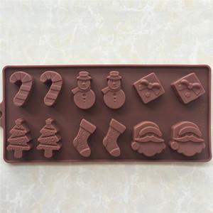 공법 실리콘 케이크와 초콜릿 금형 크리스마스 트리 완드 양말 눈사람 DIY 베이킹 금형 빙 Gemo
