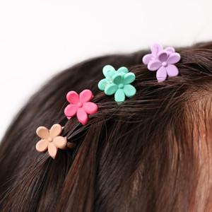 40 개입 패션 헤어 액세서리 비녀 작은 꽃 그리퍼 한국 어린이 4 발톱 플라스틱 헤어 클립 클램프